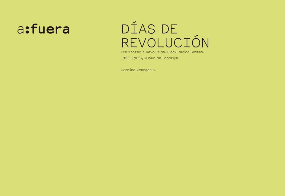 DÍAS DE REVOLUCIÓN