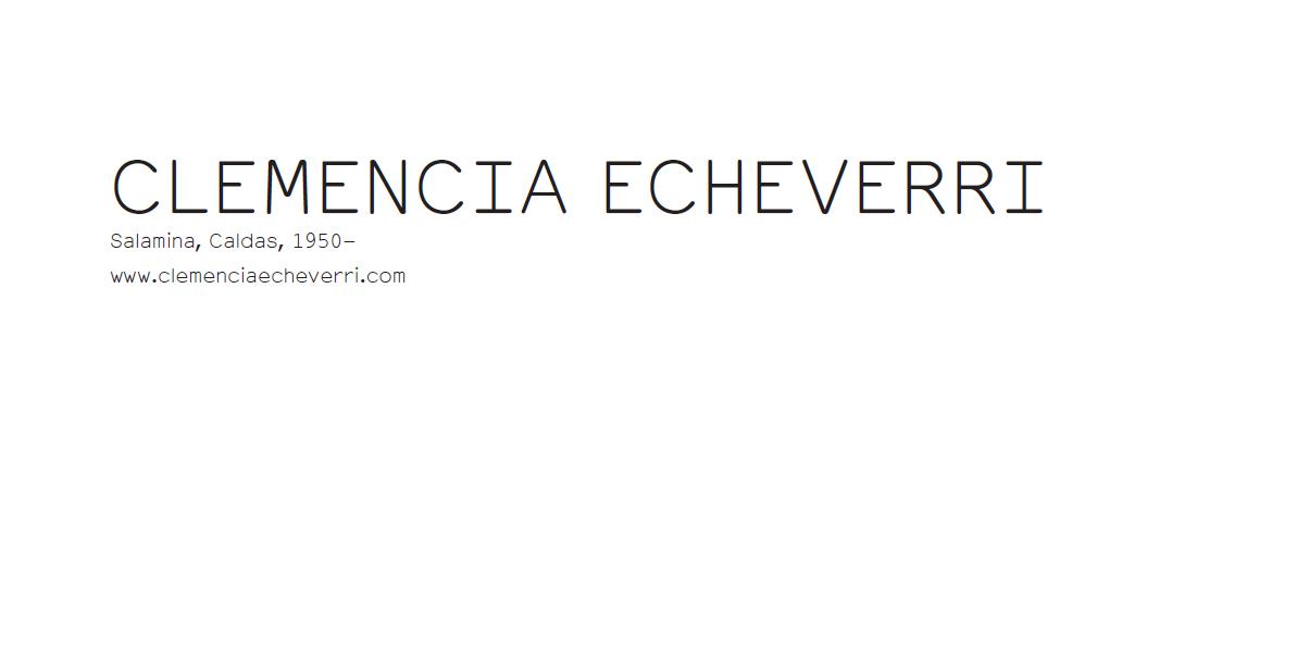 Clemencia Echeverri ERRATA#13 Dossier