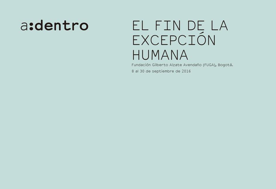 EL FIN DE LA EXCEPCIÓN HUMANA