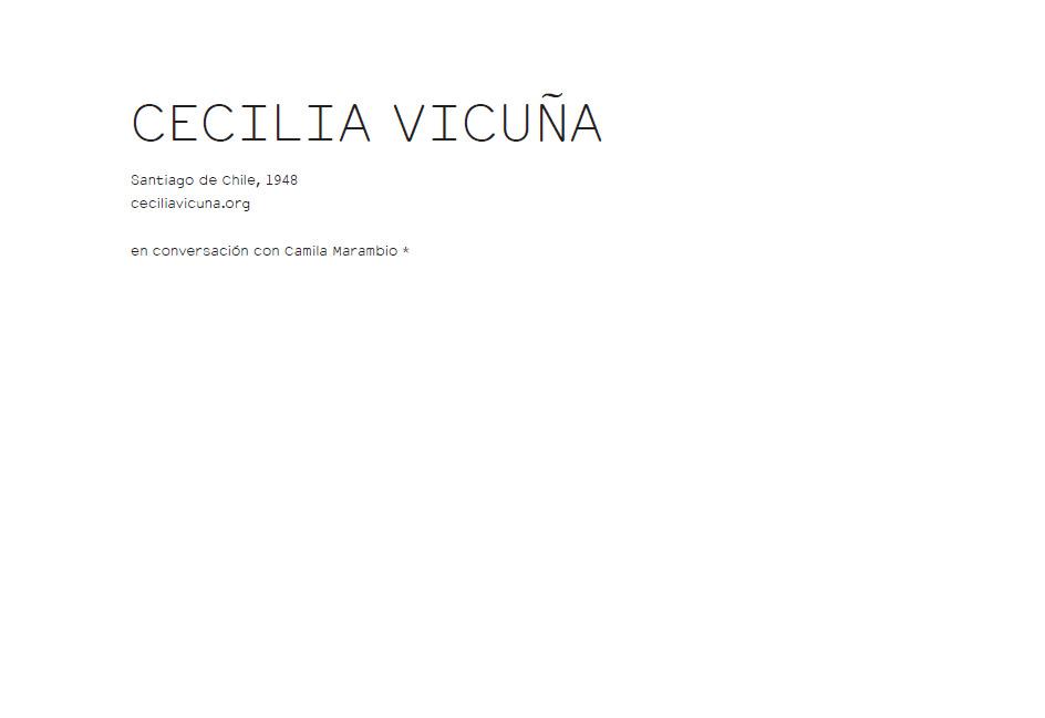 CECILIA VICUÑA