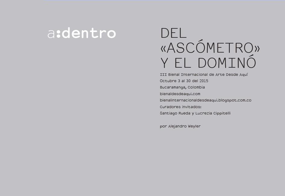 DEL «ASCÓMETRO» Y EL DOMINÓ