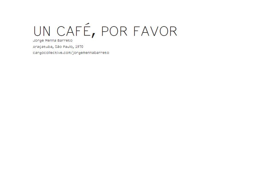 EN CAFÉ, POR FAVOR - ERRATA#16