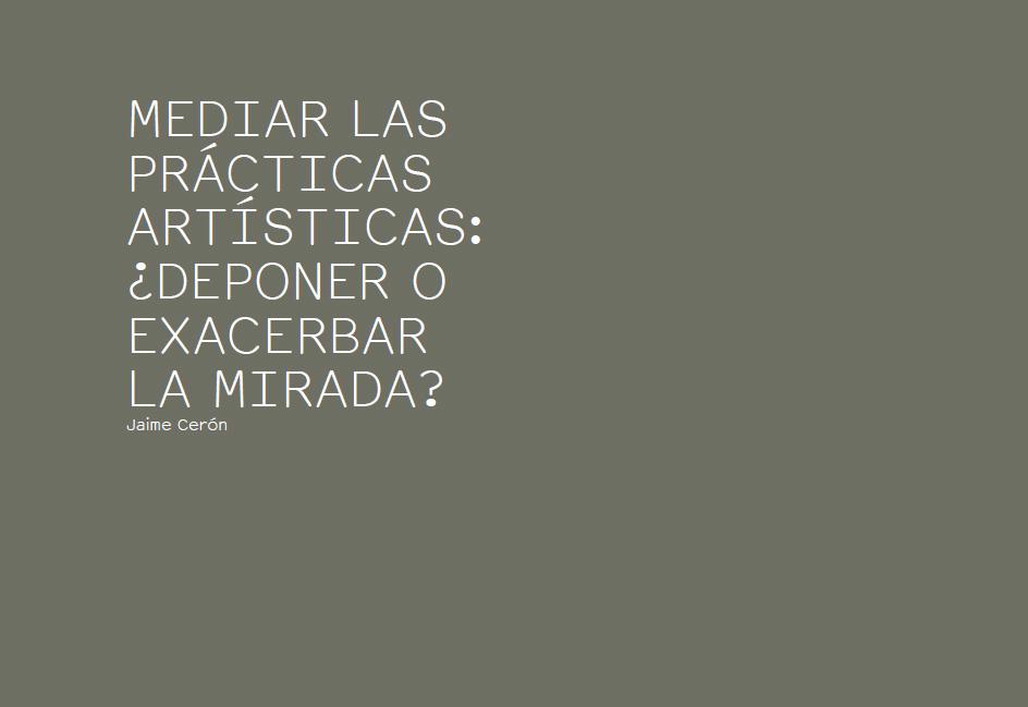 MEDIAR LAS PRÁCTICAS ARTÍSTICAS - ERRATA#16