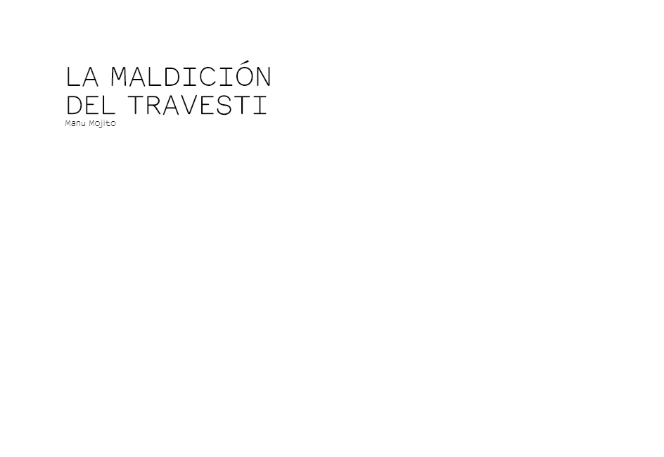 LA MALDICIÓN DEL TRAVESTI